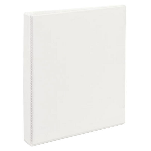 """Avery 9301 White Durable View Binder with 1"""" Non-Locking One Touch EZD Rings Main Image 1"""