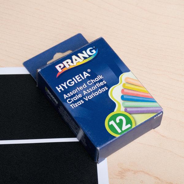 Prang 61400 Hygieia 12 Assorted Color Dustless Board Chalk