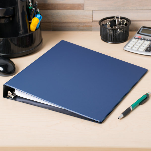 """Avery 27251 Blue Durable Non-View Binder with 1"""" Slant Rings Main Image 4"""