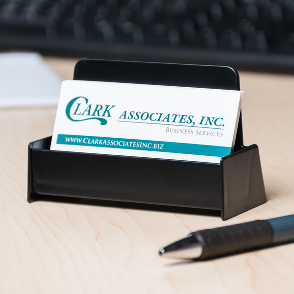 Universal unv08109 3 34 x 1 1316 x 1 38 black business card universal unv08109 3 34 x 1 1316 x 1 38 black business card holder reheart Gallery