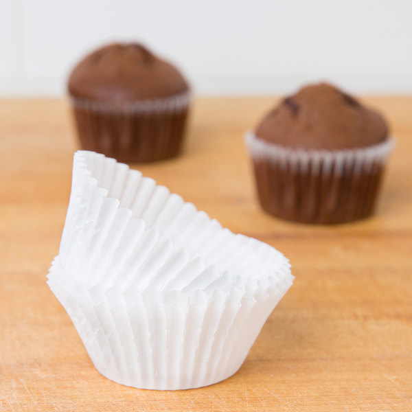 """White Fluted Baking Cup 2"""" x 1 1/4"""" - 1000/Pack Main Image 4"""