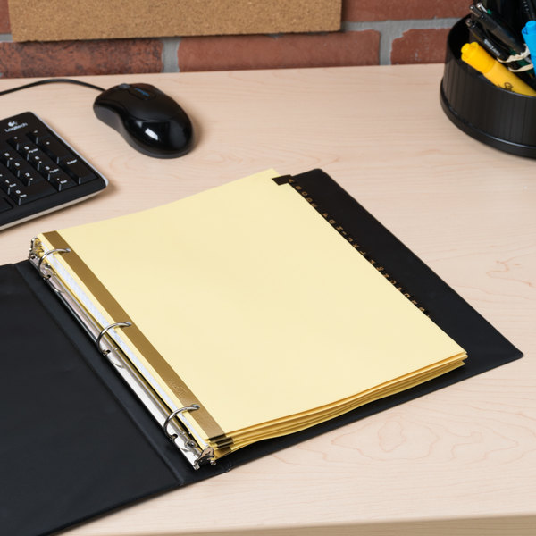 Avery 11350 Pre-Printed Black Leather 25-Tab A-Z Dividers