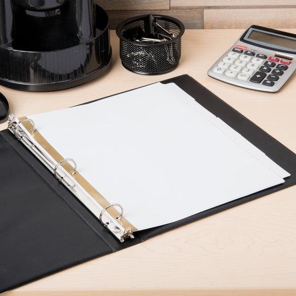 Avery 23075 Big Tab Write & Erase 5-Tab White Dividers