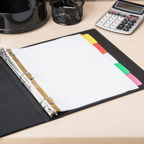 Avery 23076 Big Tab Write & Erase 5-Tab Multi-Color Dividers Main Image 5