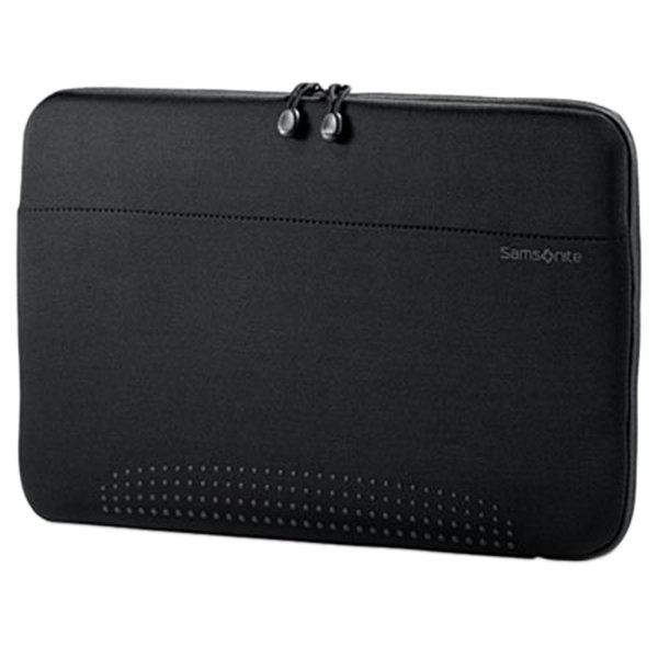 "Samsonite 433211041 Aramon 15 3/4"" x 10 1/2"" x 1"" Black Top Loader Laptop Sleeve"