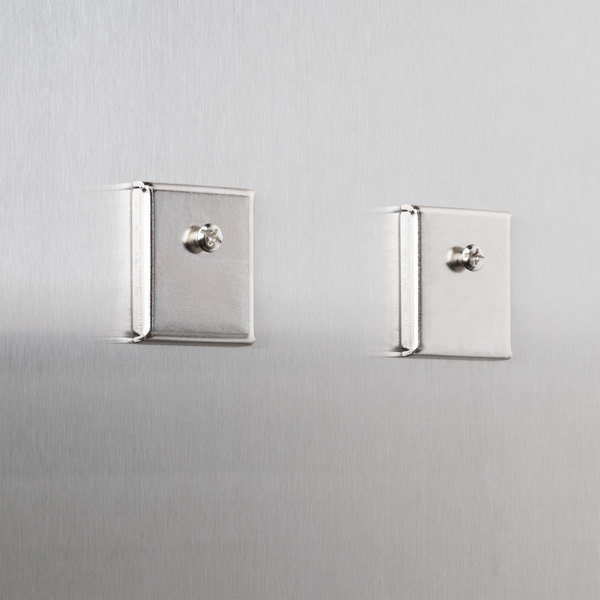 """Universal UNV08172 1 1/4"""" Square Silver Metal Cubicle Accessory Mounting Magnet - 2/Pack"""