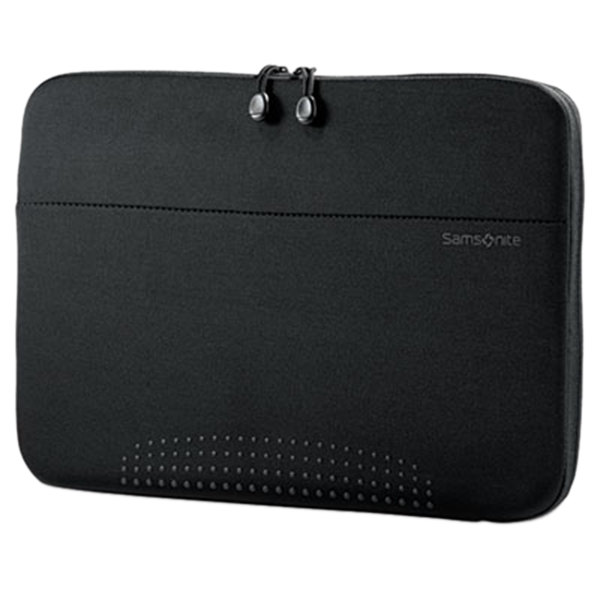 "Samsonite 433241041 Aramon 14 1/2"" x 10 1/2"" x 1"" Black Top Loader Laptop Sleeve Main Image 1"