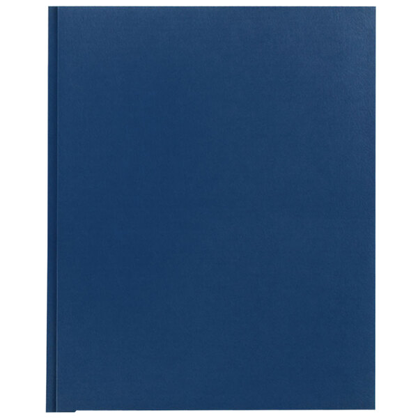 Avery 47975 Letter Size 2-Pocket Paper Folder with Prong Fasteners, Dark Blue - 25/Box Main Image 1