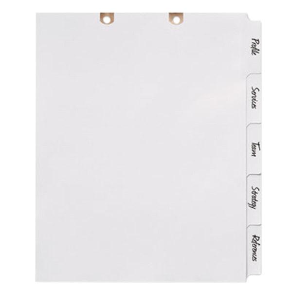 Avery 13160 Big Tab 5-Tab White Paper Side Tab Write-On Dividers