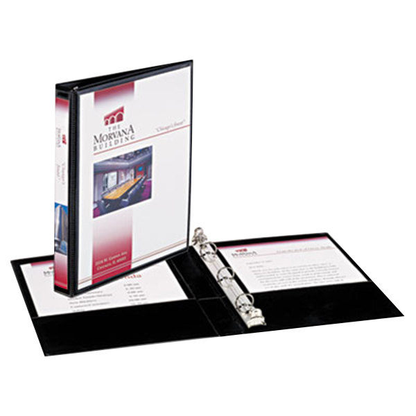 """Avery 27725 Black Mini Durable View Binder with 1/2"""" Round Rings Main Image 1"""