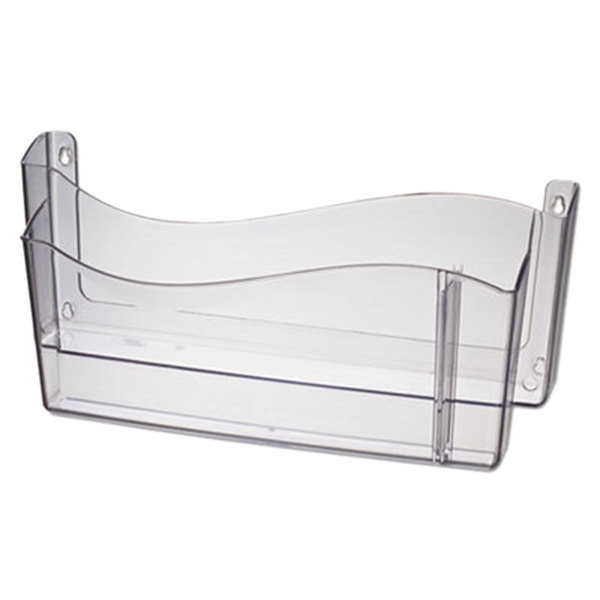 Universal UNV08142 Clear Plastic Two Pocket Unbreakable 4-in-1 Wall File