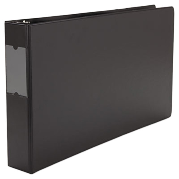 "Universal UNV35421 11"" x 17"" Black Non-Stick Non-View Binder with 2"" Round Rings and Spine Label Holder, Ledger Main Image 1"
