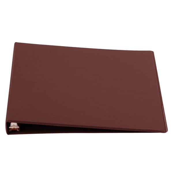 Universal UNV30406 Burgundy Economy Non-Stick Non-View Binder with 1/2 inch Round Rings