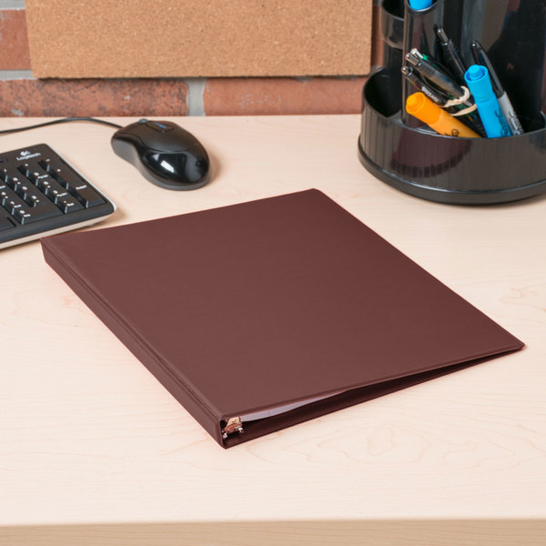 """Universal UNV30406 Burgundy Economy Non-Stick Non-View Binder with 1/2"""" Round Rings"""