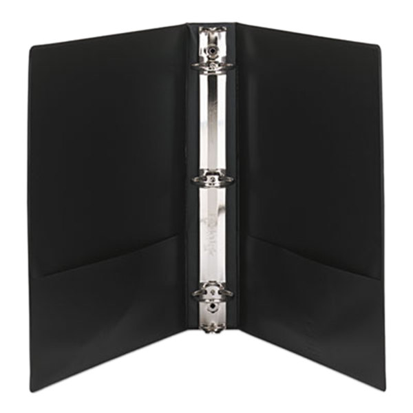 "Avery 19650 Black Economy Showcase View Binder with 1 1/2"" Round Rings"