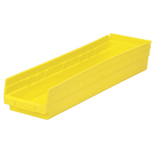 "Metro MB30164Y Yellow Nesting Shelf Bin 23 5/8"" x 6 5/8"" x 4"""