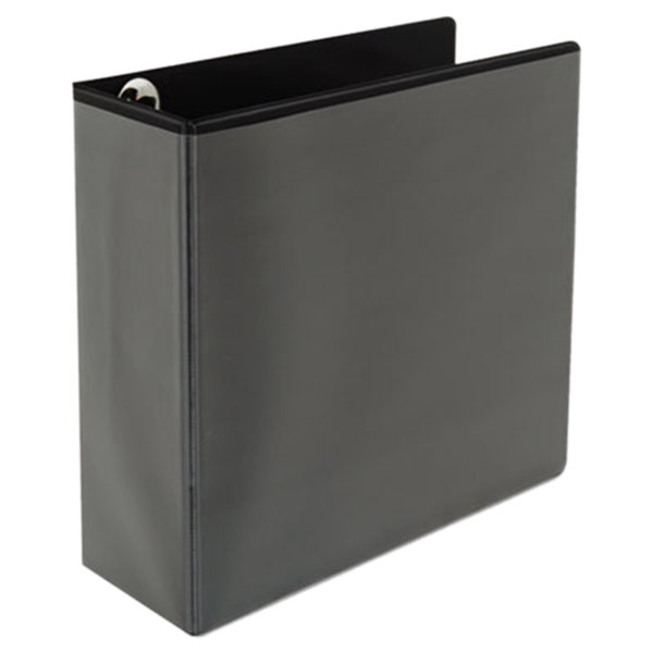 "Universal UNV30753 Comfort Grip Deluxe Plus Black Eco-Friendly Binder with 4"" Slant Rings Main Image 1"