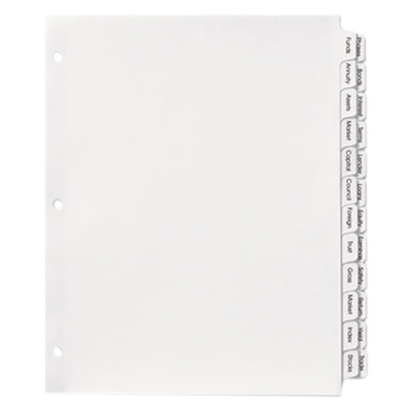 Avery 13151 Index Maker 24-Tab Double-Column Clear Label Dividers Main Image 1
