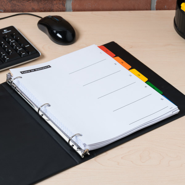 Avery Office Essentials 11667 Table 'n Tabs Multi-Color 5-Tab Dividers