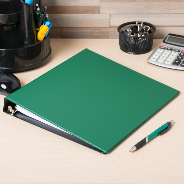 "Avery 27253 Green Durable Non-View Binder with 1"" Slant Rings"