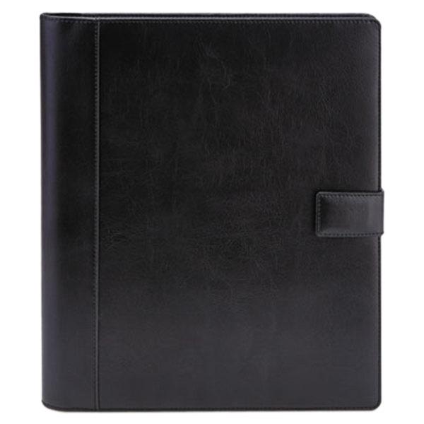 "Universal UNV32653 12 1/4"" x 10 3/4"" Black Vinyl Standard Pad Holder"