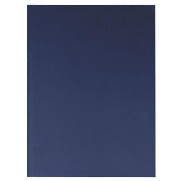 """Universal UNV66352 10 1/4"""" x 7 5/8"""" Dark Blue Linen Casebound Hardcover Notebook - 150 Sheets"""