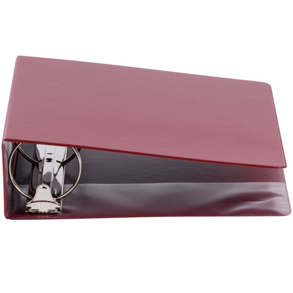 Universal UNV30410 Burgundy Economy Non-Stick Non-View Binder with 3 inch Round Rings