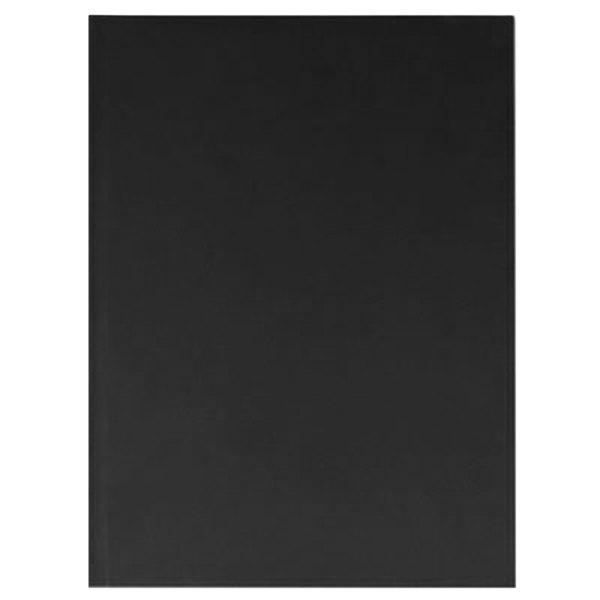 "Universal UNV66353 10 1/4"" x 7 5/8"" Black Linen Casebound Hardcover Notebook - 150 Sheets Main Image 1"