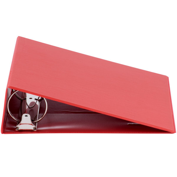 Universal UNV30409 Red Economy Non-Stick Non-View Binder with 3 inch Round Rings