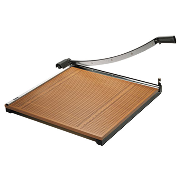 """X-Acto 26624 24"""" Square 20 Sheet Commercial Guillotine Paper Trimmer with Wood Base Main Image 1"""