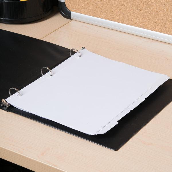 Universal UNV20815 White 5-Tab Write-On/Erasable Dividers Main Image 6
