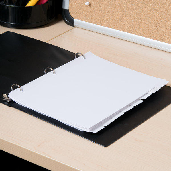 Universal UNV20818 White 8-Tab Write-On/Erasable Dividers