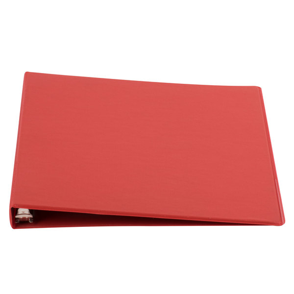 Universal UNV30403 Red Economy Non-Stick Non-View Binder with 1/2 inch Round Rings