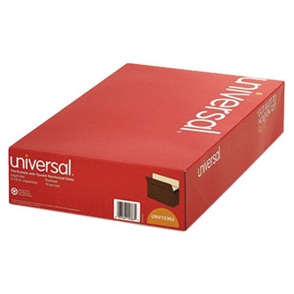 Universal UNV15363 Legal Size File Pocket - 10/Box Main Image 1