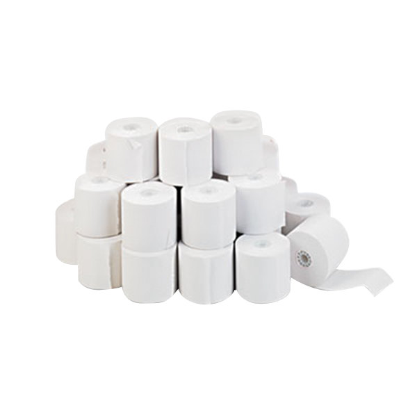 "Universal Office UNV35710 2 1/4"" x 150' White 1-Ply Adding Machine and Calculator 16# Paper Roll - 100/Case"