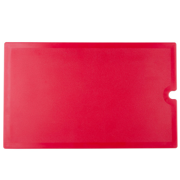 Cambro VBRWC158 Hot Red Versa Well Cover Main Image 1