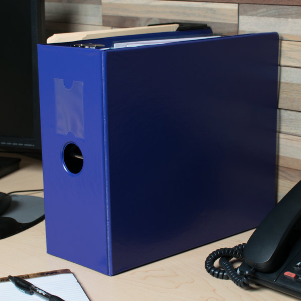 """Universal UNV20710 Royal Blue Non-View Binder with 5"""" Slant Rings and Spine Label Holder Main Image 11"""