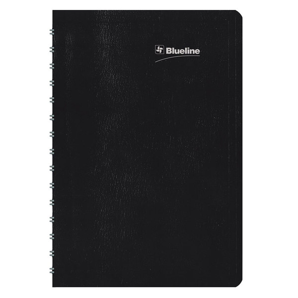 """Blueline C21021T 5"""" x 8"""" Black January 2020 - December 2020 Duraglobe 30-Minute Appointment Daily Planner"""
