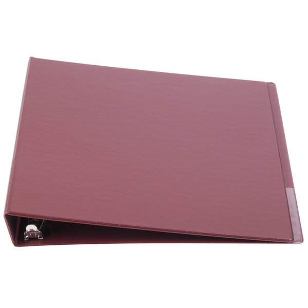 Universal UNV31406 Burgundy Economy Non-Stick Non-View Binder with 1 inch Round Rings