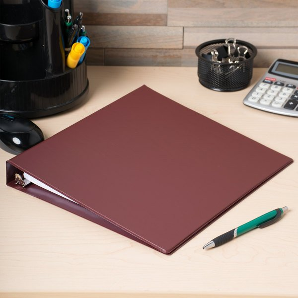"Universal UNV31406 Burgundy Economy Non-Stick Non-View Binder with 1"" Round Rings Main Image 9"