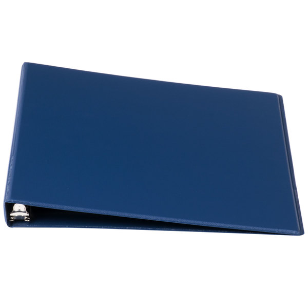 Universal UNV30402 Royal Blue Economy Non-Stick Non-View Binder with 1/2 inch Round Rings