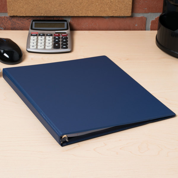 "Universal UNV30402 Royal Blue Economy Non-Stick Non-View Binder with 1/2"" Round Rings"
