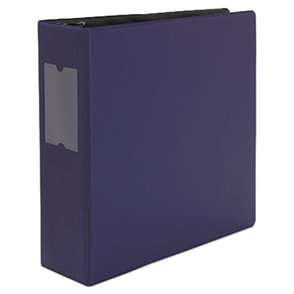 """Universal UNV20798 Navy Blue Non-View Binder with 3"""" Slant Rings and Spine Label Holder"""