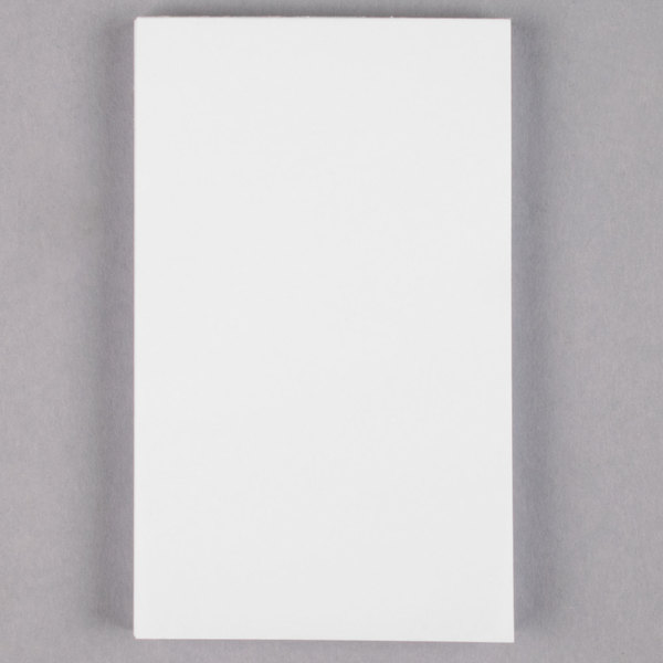 Universal UNV35623 3 inch x 5 inch Unruled White Scratch Pad 100 Sheets  - 180/Case