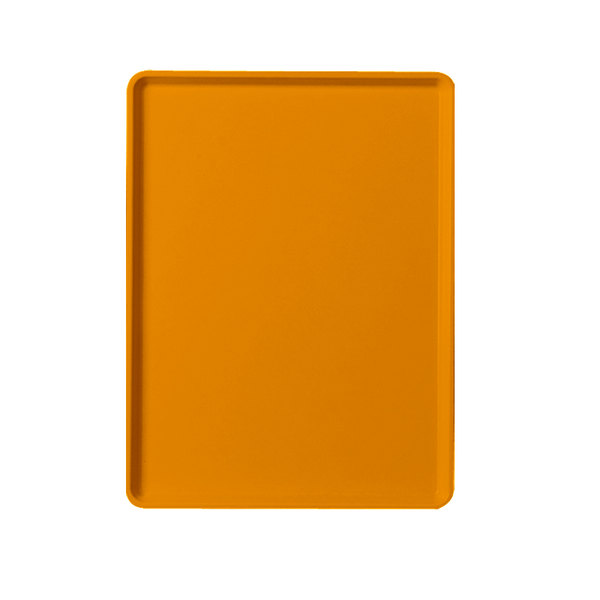 "Cambro 1220D222 12"" x 20"" Orange Pizazz Dietary Tray - 12/Case"