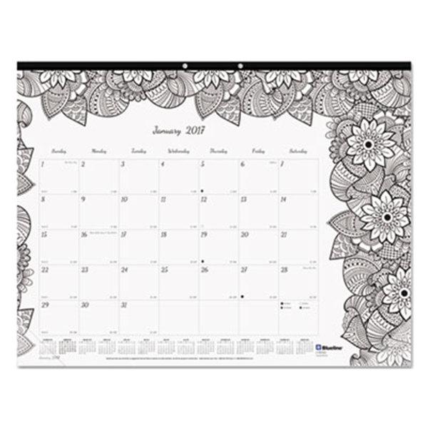 """Blueline C2917311 DoodlePlan 22"""" x 17"""" Botanical Monthly ..."""