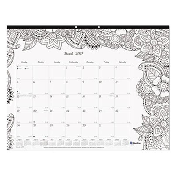 """Blueline C2917311 DoodlePlan 22"""" x 17"""" Botanical Monthly January ..."""