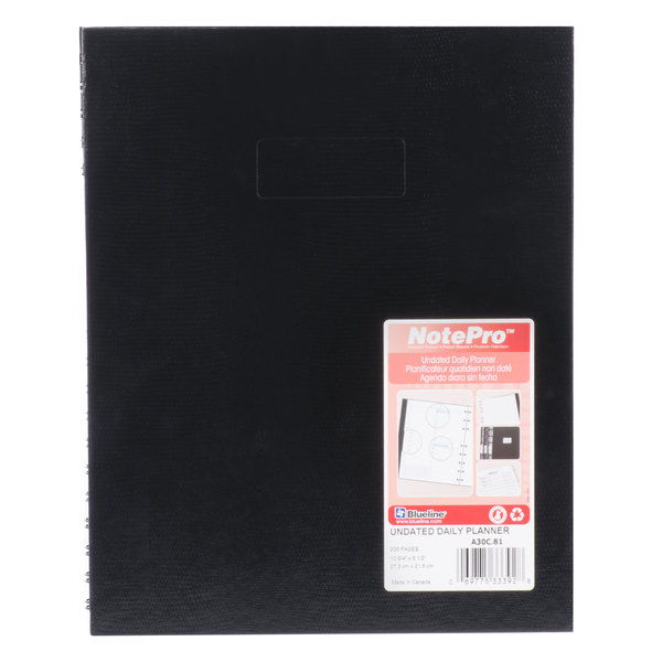 """Rediform A30C81 NotePro 11"""" x 8 1/2"""" Undated Daily Planner - 100 Sheets Main Image 1"""