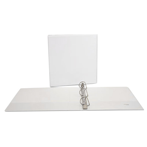 """Universal UNV20744PK White Economy View Binder with 1 1/2"""" Slant Rings - 4/Pack Main Image 1"""