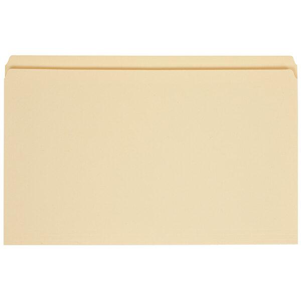 Universal UNV15110 Legal Size File Folder - Standard Height with Straight Cut Tab, Manila - 100/Box Main Image 1